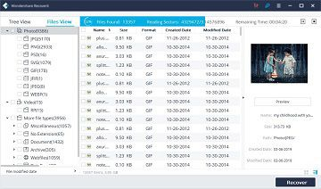 Mac data recovery-scan
