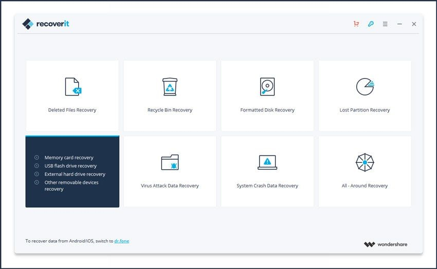 recoverit dashboard