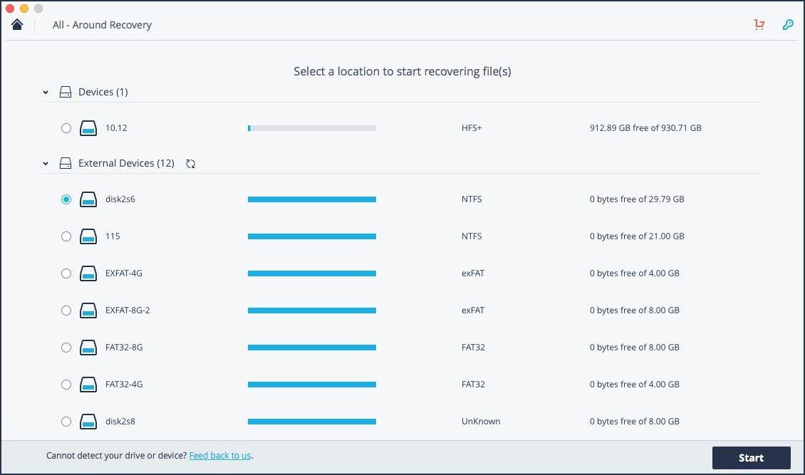 Recuperar archivos borrados de la unidad flash USB en Mac