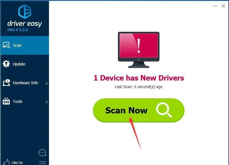 scan drivers in driver easy