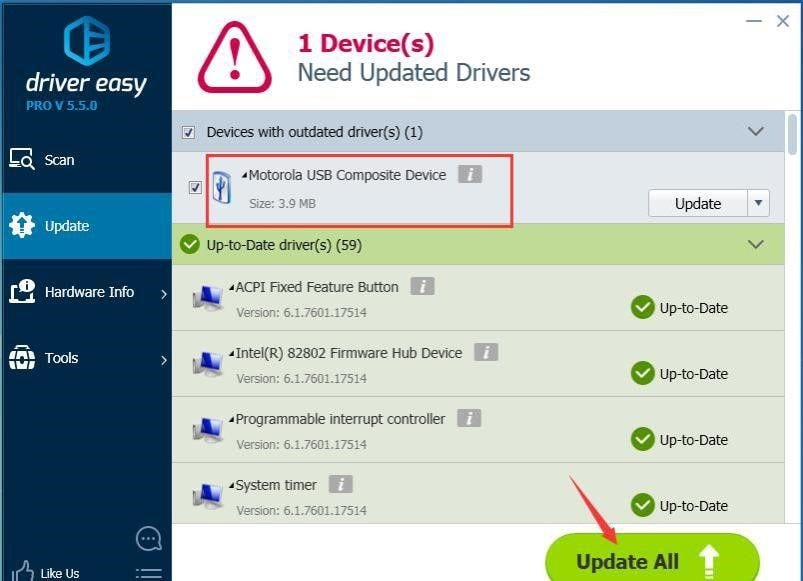 update certain device driver