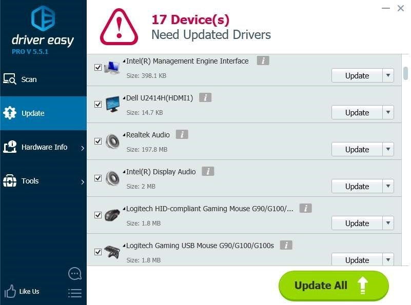 driver easy software screenshot