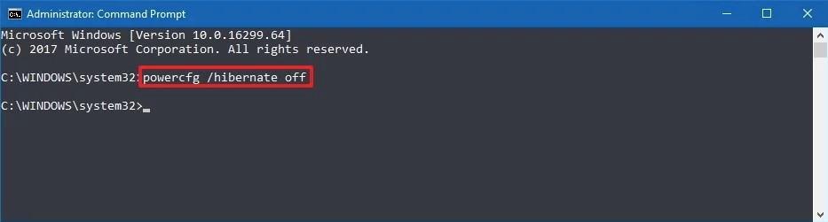 desactivar la hibernación en windows 10