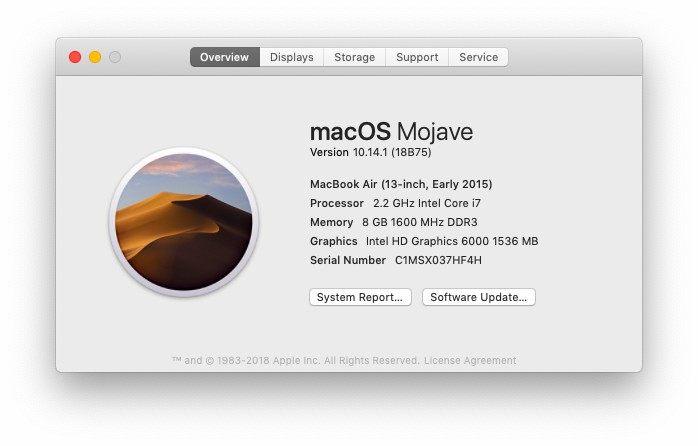 overview of macbook