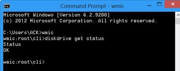 command prompt wmic