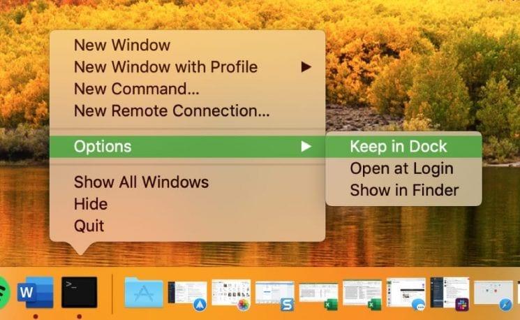 create-shortcut-keep-terminal-in-dock