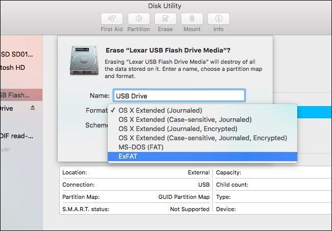 formatos de disco mac