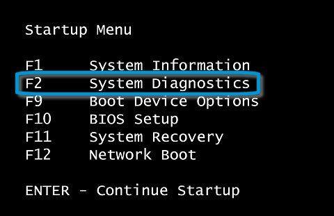 f2 Systemdiagnose