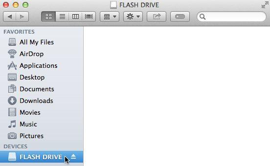 barra lateral de la unidad flash mac
