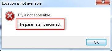 Parameter ist falsch