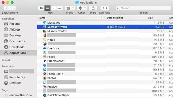 desinstalar Microsoft Office en Mac 2