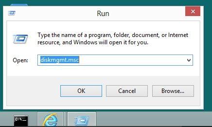 diskmgmt.msc in run option