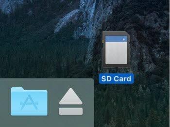 use an sd card on mac