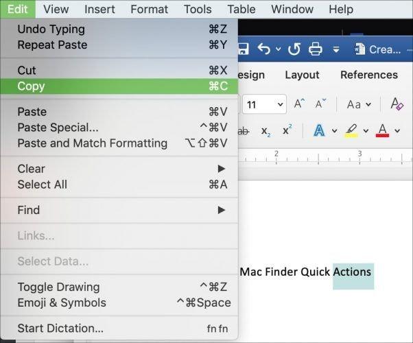 Mac kopieren einfügen 2