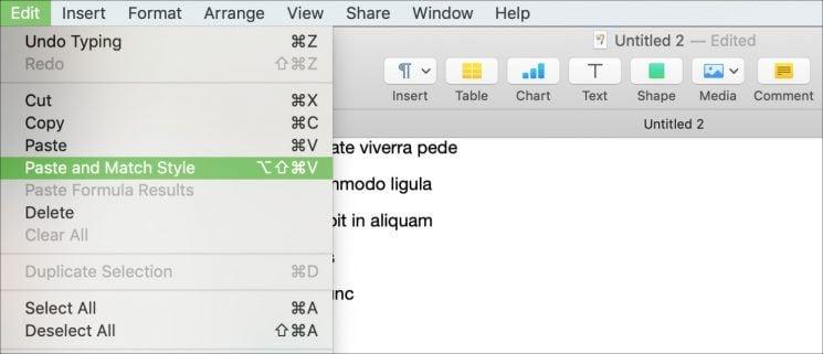 Mac kopieren einfügen 3