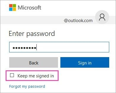 discontinue automatic login