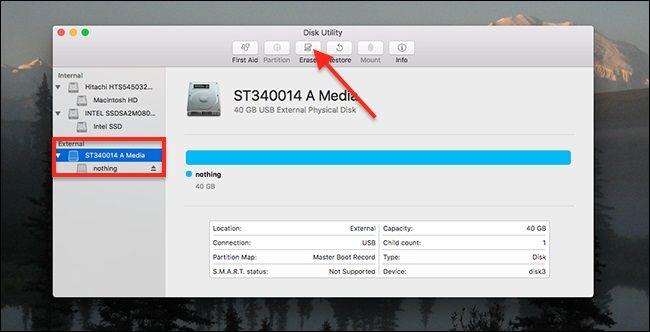 Formatieren der Festplatte