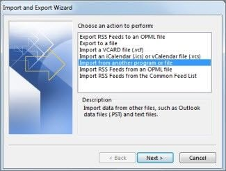 lost folder outlook 11