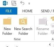 lost folder outlook 9