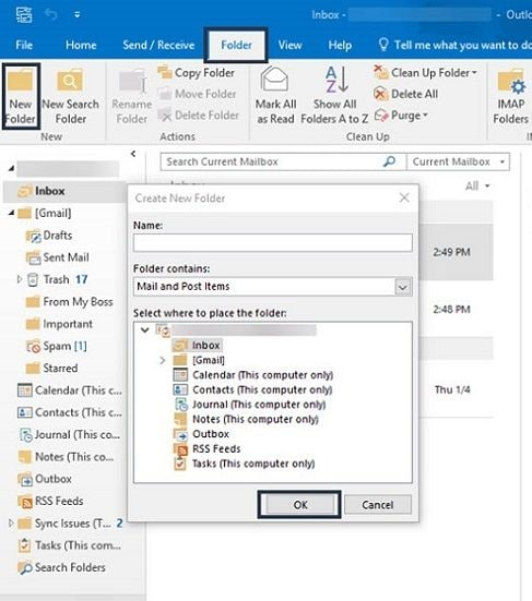 new-folder-outlook
