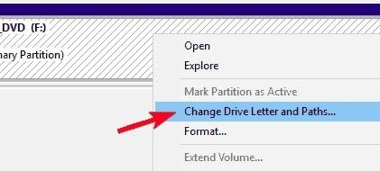 change the drive letter