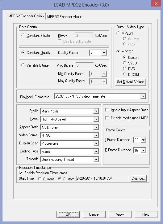 mpeg2 user interface