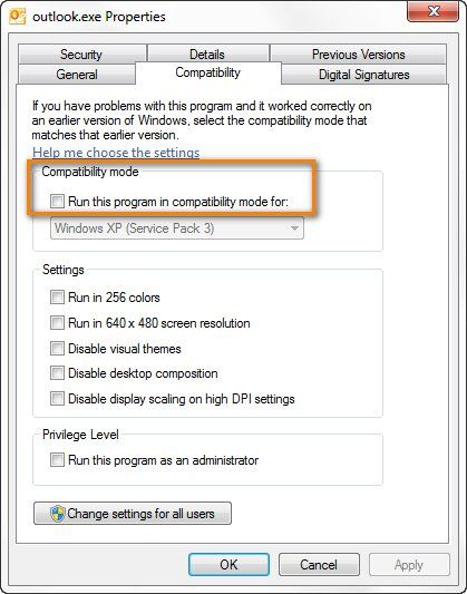outlook-compatibility-mode