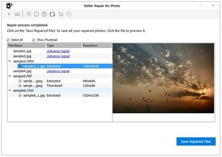 save repaired jpg files