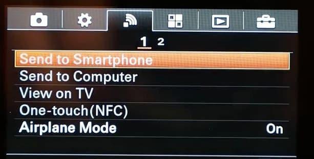 choose wifi option