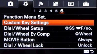 custom key settings