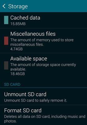 unmount sd card