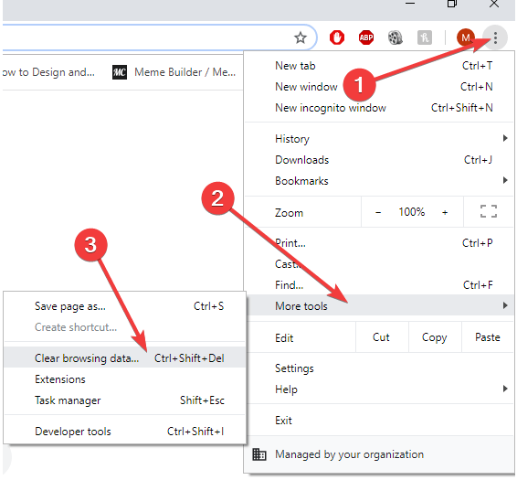 how to remove the browsing data