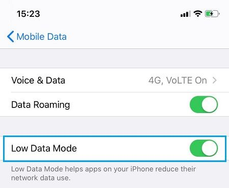 disable data saver features