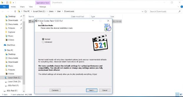 Launch the K-lite codec pack