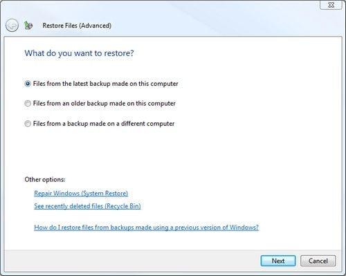 restore the mp3 files