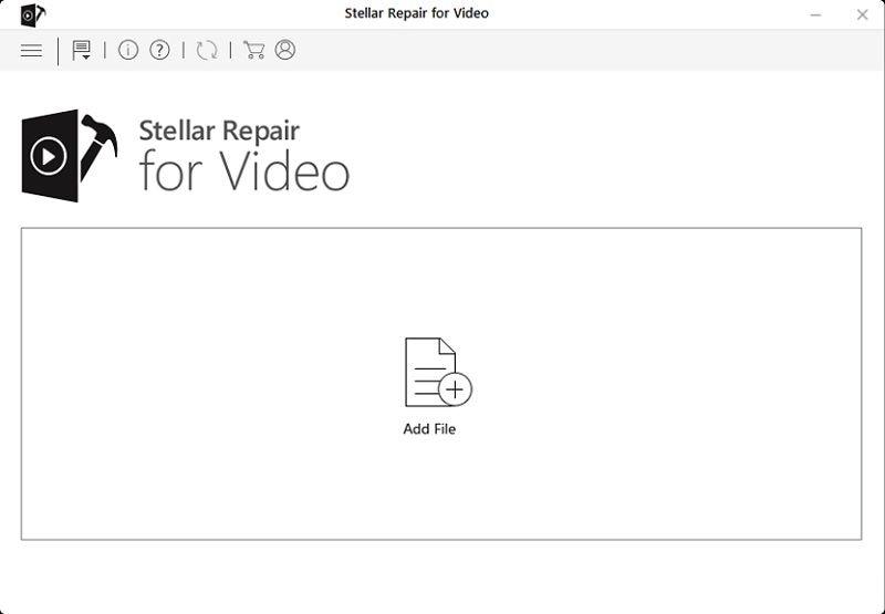 add video files in Stellar repair for video
