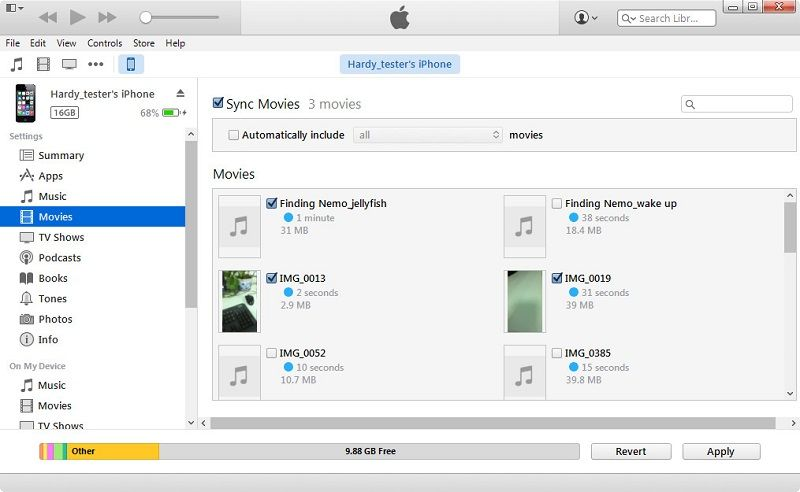 right click to choose your iphone then select the import picture and video