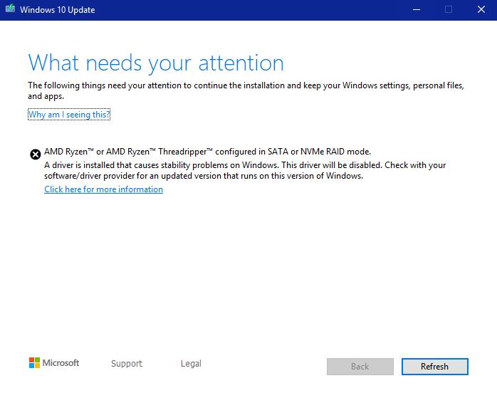 windows 10 update needs update
