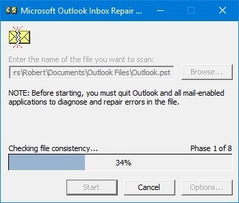 fix outlook 10