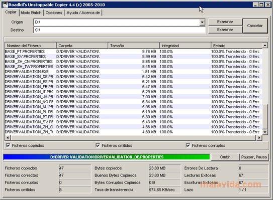 roadkil's unstoppable copier