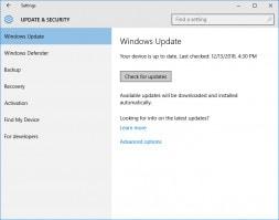 atualizações do windows pc
