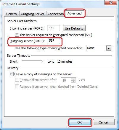 SMTP highlighted