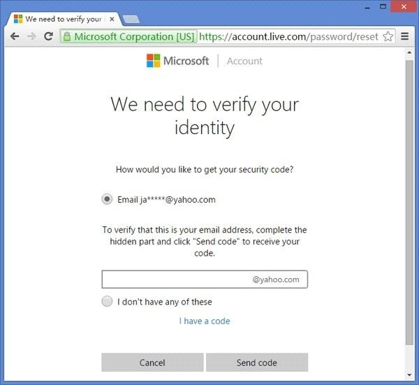 msn verify indentity