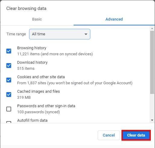 Chrome friert ein Windows 3