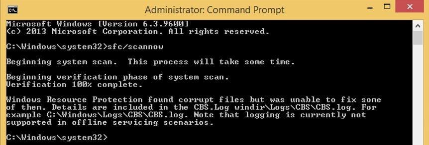 command running