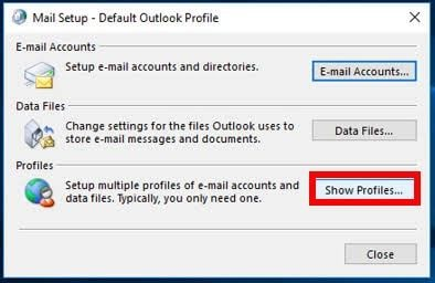 create new outlook profile 3