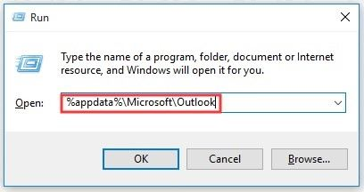 delete outlook cache 1