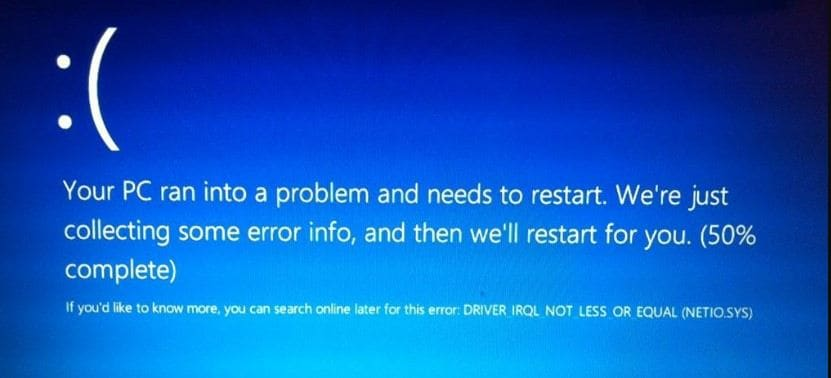 driver irql not less or equal%20windows 10 1