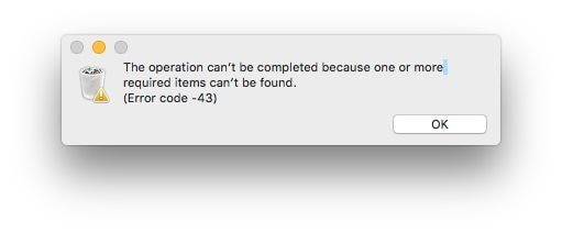 Error code 43 on Mac