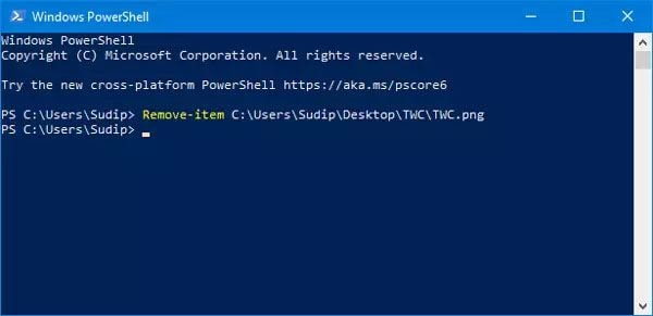How To Use Powershell To Force Delete File And Folder